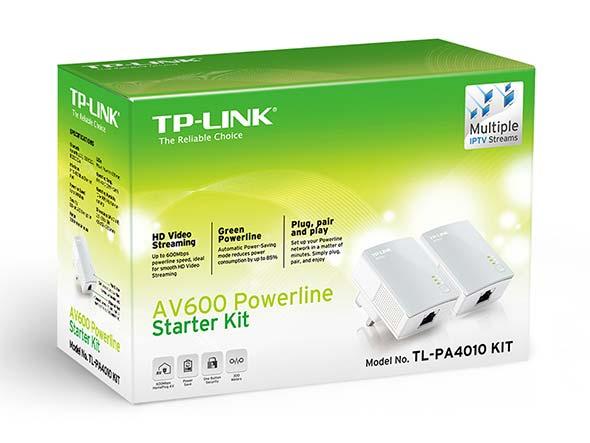 TP-Link AV600 Powerline Adapter Starter Kit | TL-PA4010KITV1.2