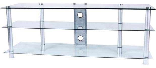 1400mm wide clear glass TV stand