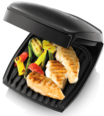 George Foreman Family 4 Portion Black Grill 18471