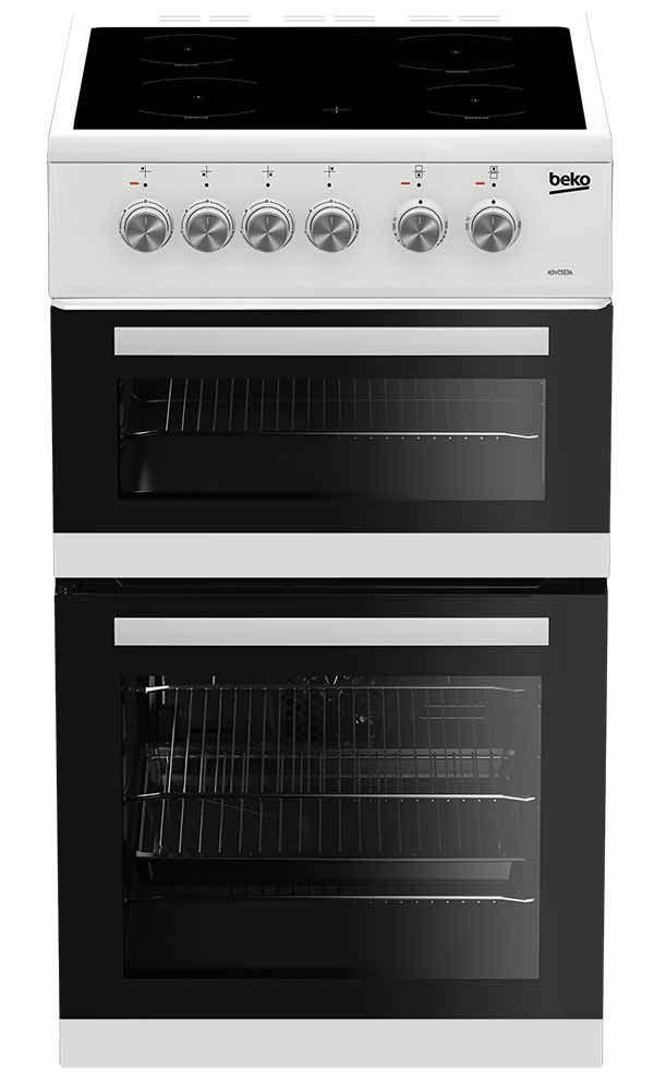 Beko 50cm Electric Cooker  | KDVC563AW