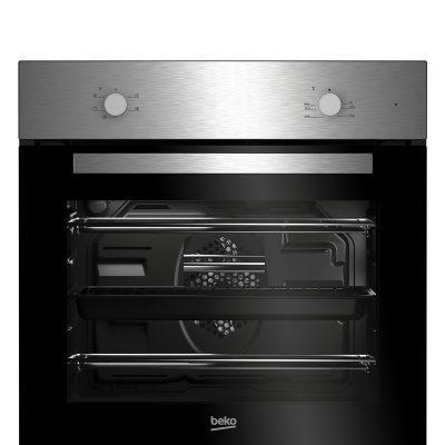 Beko Integrated Fan Oven & Ceramic Hob | BSF210SX