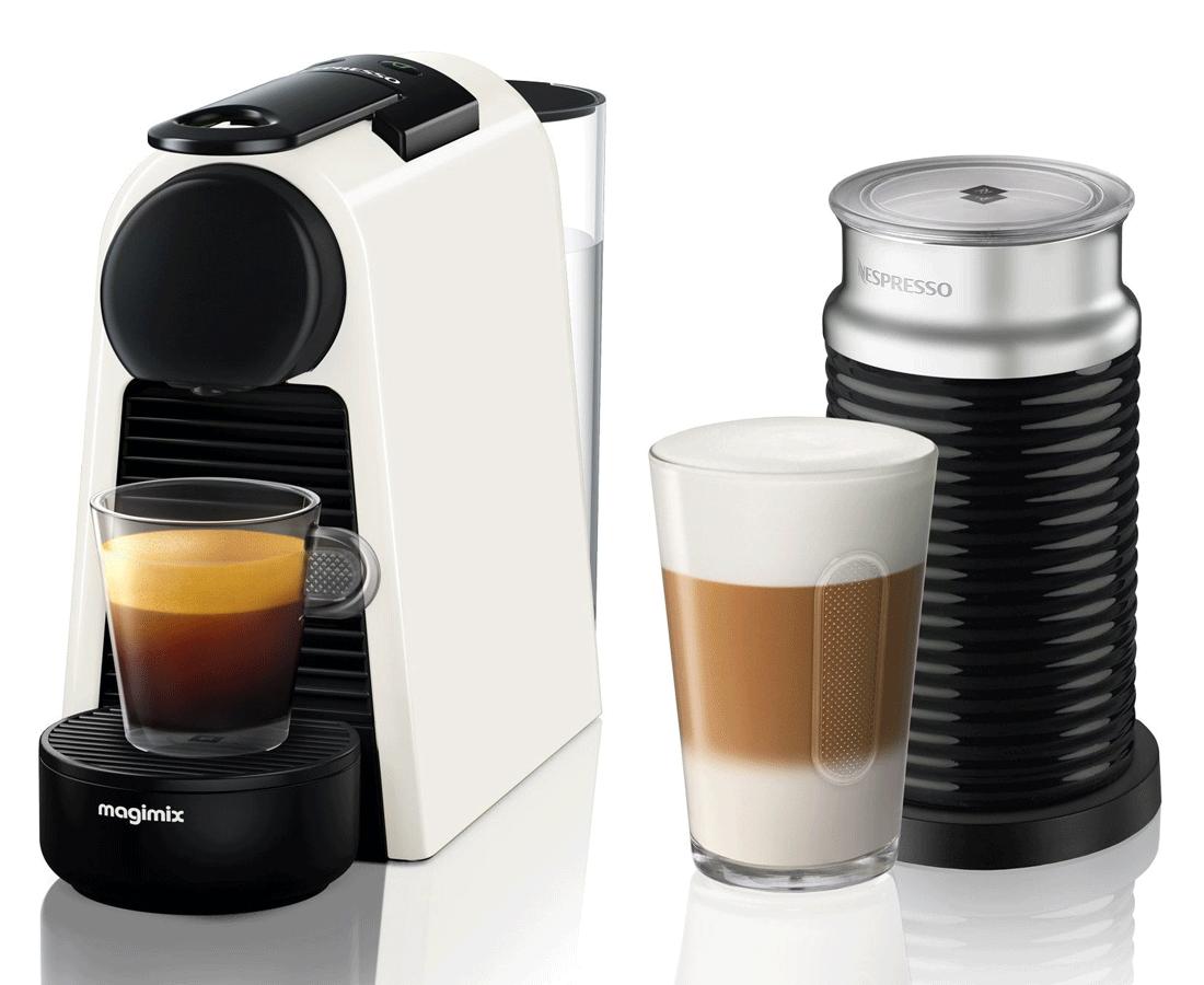 Nespresso Krups Mini White Coffee Machine & Frother | XN111140