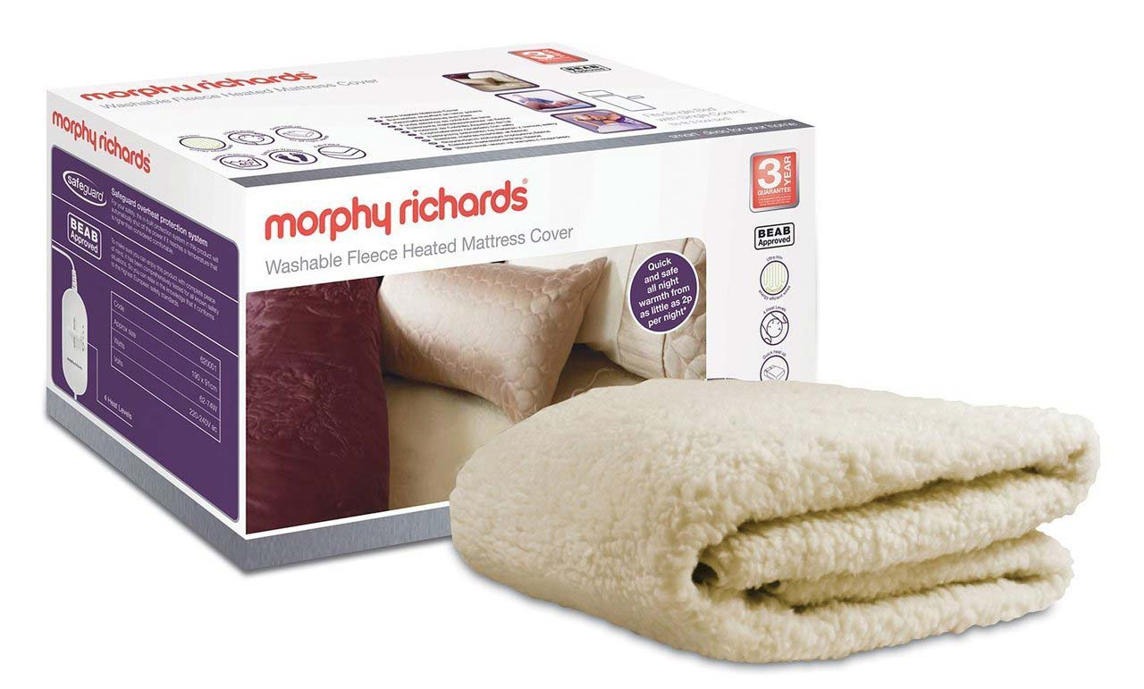 Morphy Richards Dual Fleece Heated Mattress Cover | Double