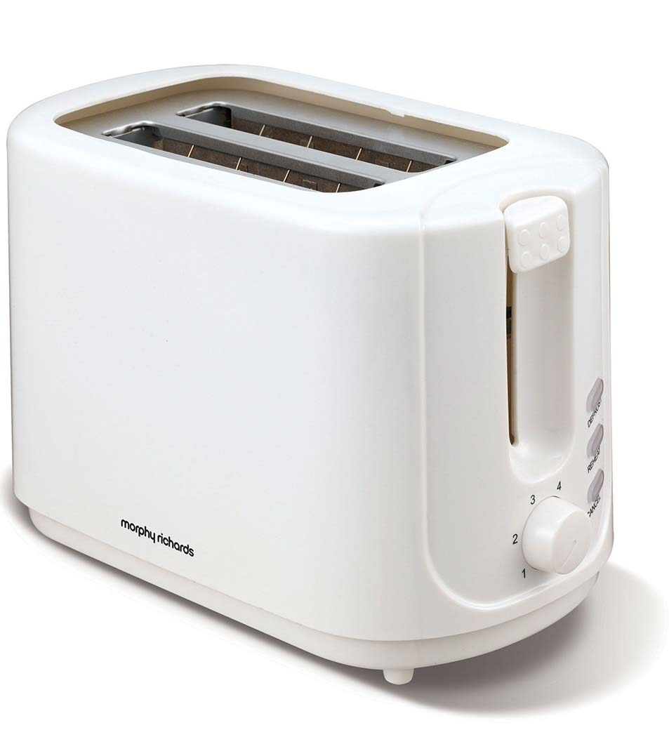 Morphy Richards 2 slice white toaster 980505