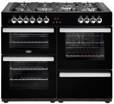 Belling Cookcentre 110cm Dual Fuel Range Cooker 110DFTBLK