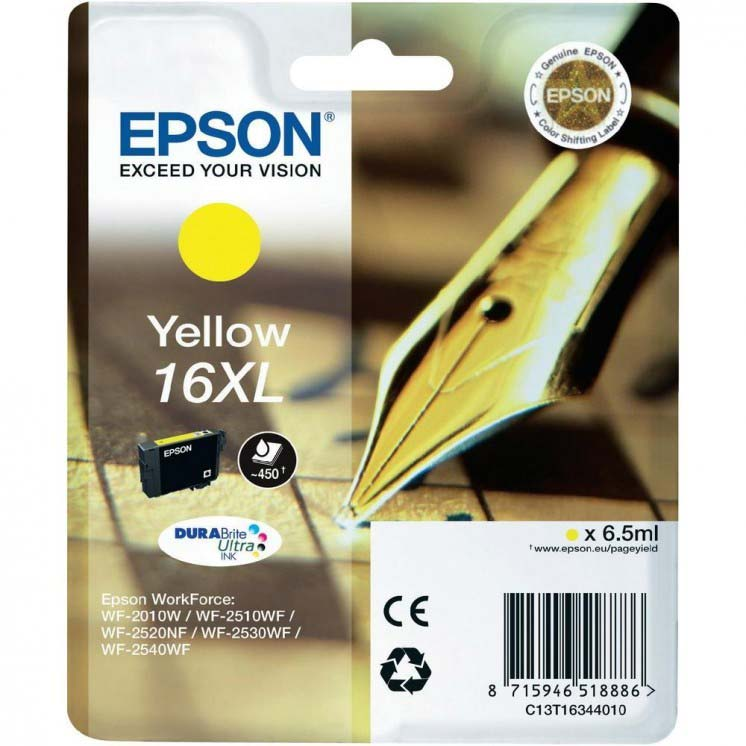 EPSON C13T16344010 DURABRITE ULTRA YELLOW XL INK