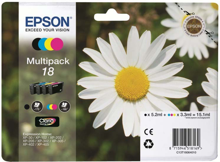 EPSON C13T18064010 DAISY MULTI PACK STANDARD INK