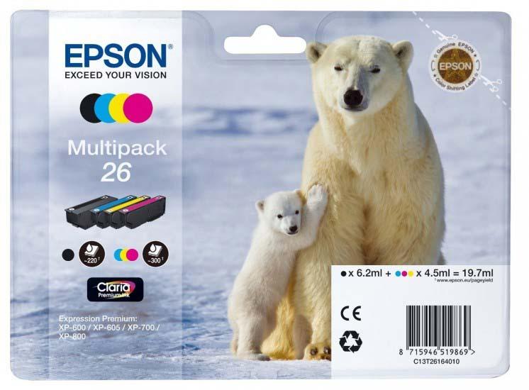 EPSON C13T26164010 POLAR BEAR MULTIPACK STANDARD INK