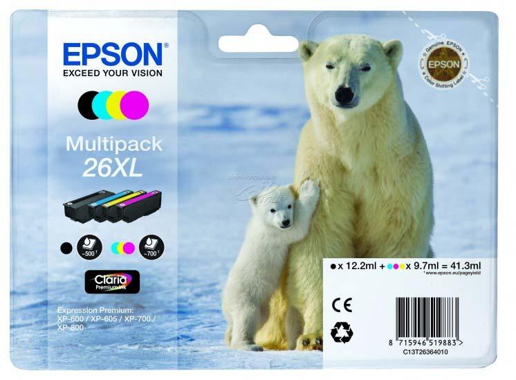EPSON C13T26364010 POLAR BEAR MULTI PACK XL INK