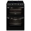 Zanussi ZCV66250BA 60cm Double Oven Electric Cooker With Ceramic Hob - BLACK