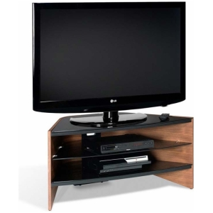 """TECHLINK 'Riva' Black Glass TV Stand for up to 42"""" TVs RV100W"""