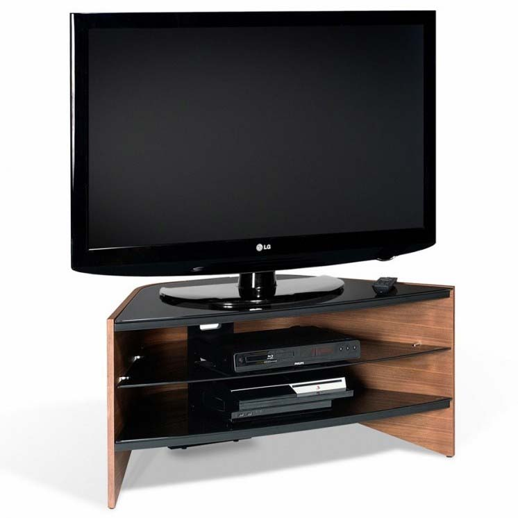 "TECHLINK 'Riva' Black Glass TV Stand for up to 42"" TVs RV100W"