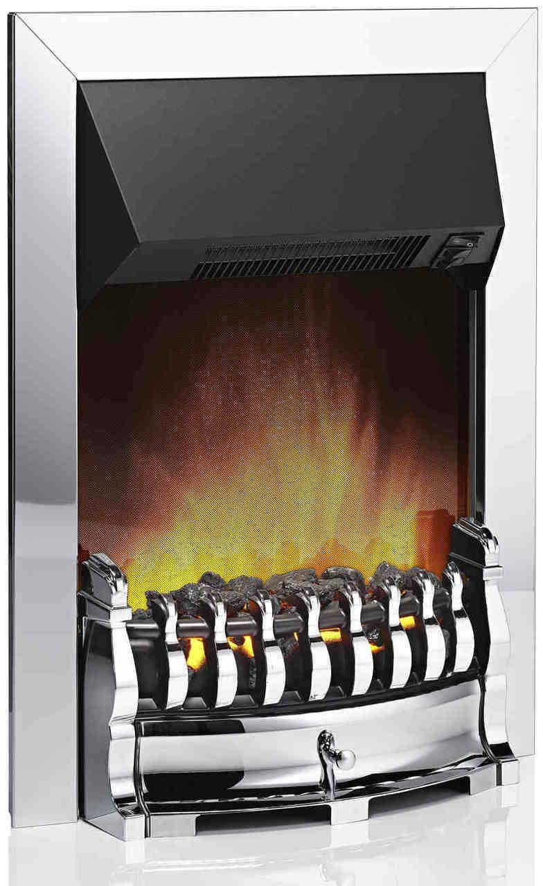 DIMPLEX 'Stamford' Optiflame Chrome Inset Fire STM20CH