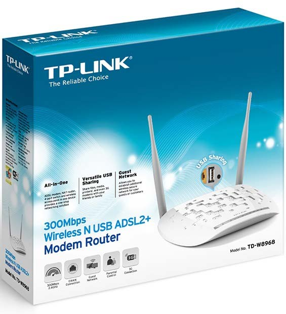 TP-Link 300Mbps Wireless Router | TD-W8968