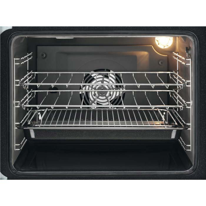 Zanussi ZCV66250XA 60cm Double Oven Electric Cooker With Ceramic Hob - Stainless Steel