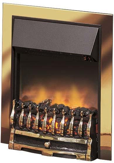 DIMPLEX 'Wynford' brass inset OptiFlame fire WYN20BR