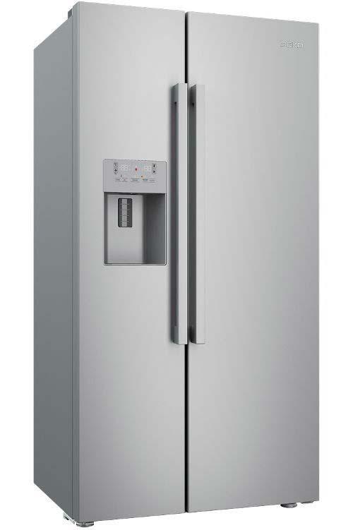Beko Freestanding American Style Fridge Freezer | ASP341X