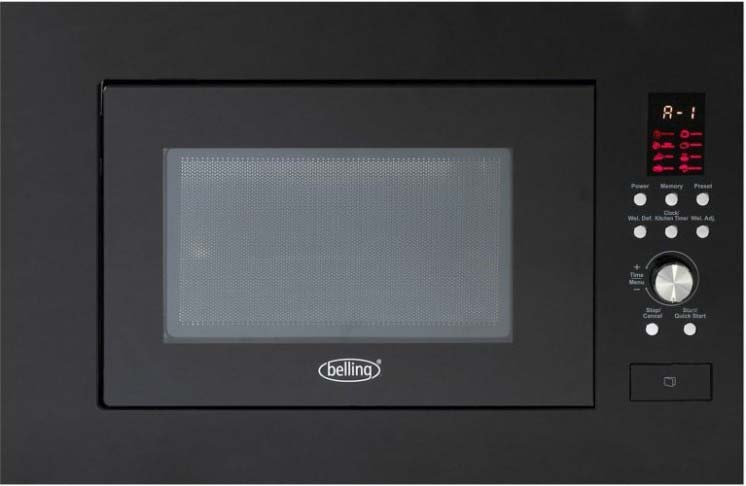BELLING Built in microwave in Black BIM60BLK