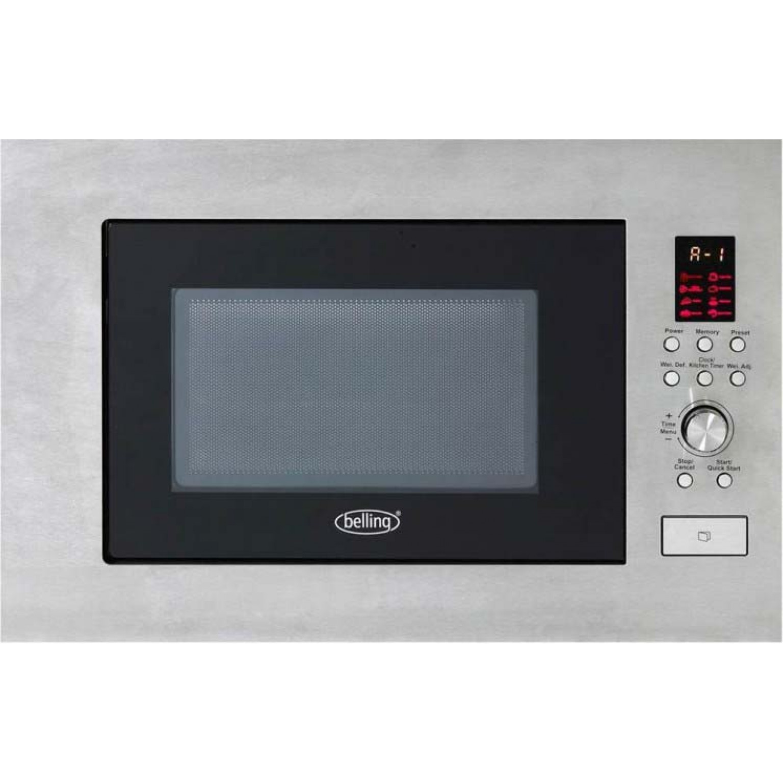 BELLING Built in microwave in stainless steel BIM60STA