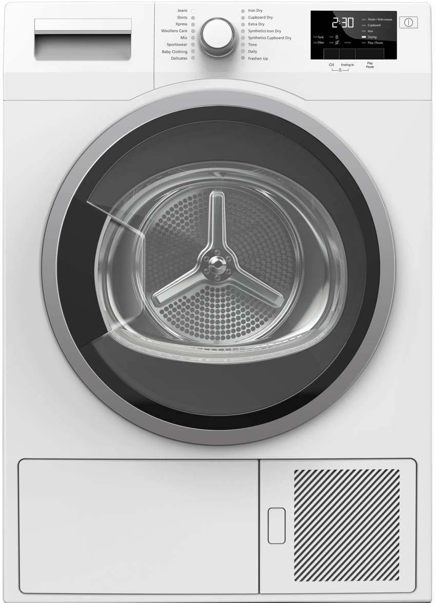 Blomberg 8kg Condenser Tumble Dryer in white LTK28021W