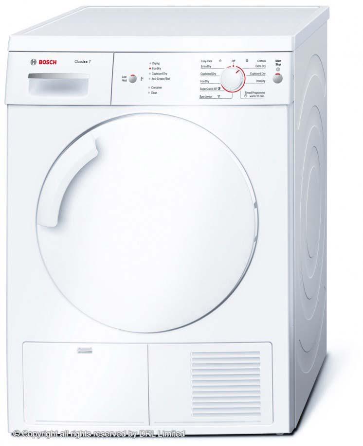 BOSCH Classixx 7kg Sensor Condenser Dryer WTE84106GB
