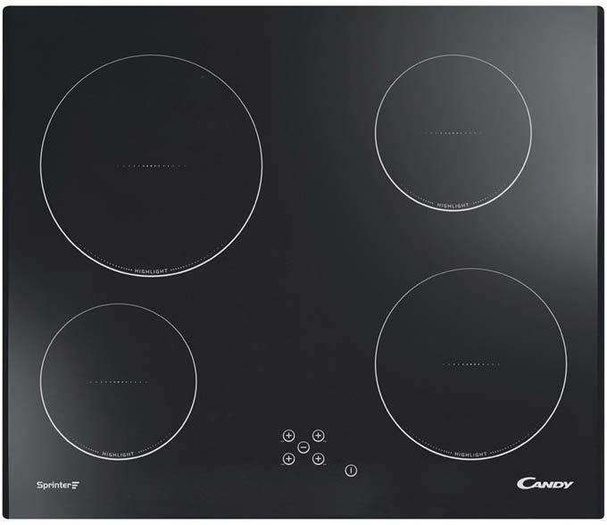 Candy 60cm Touch Control Electric Hob | CHC640C