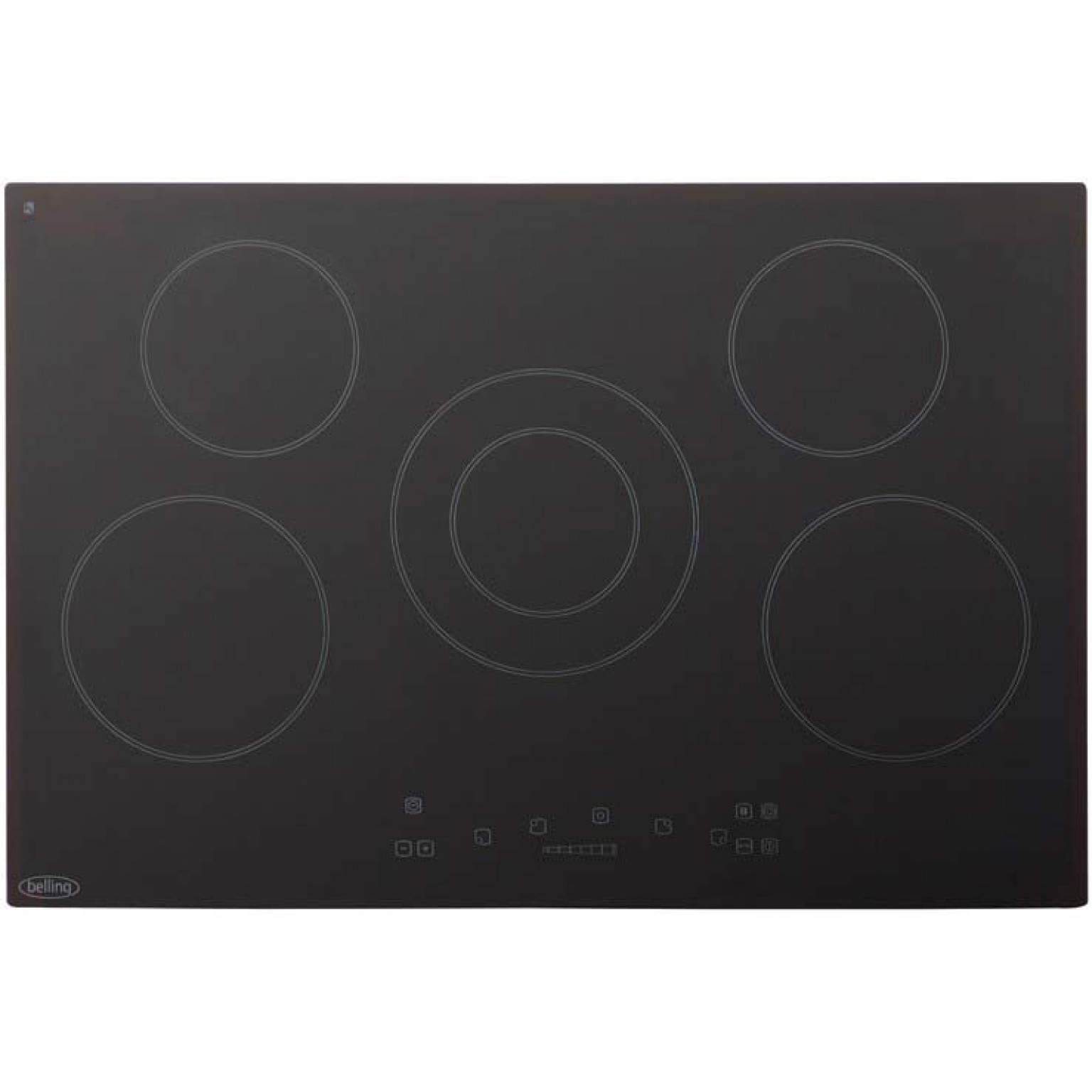 Belling 77cm 5 zone ceramic hob with touch controls CH77TC