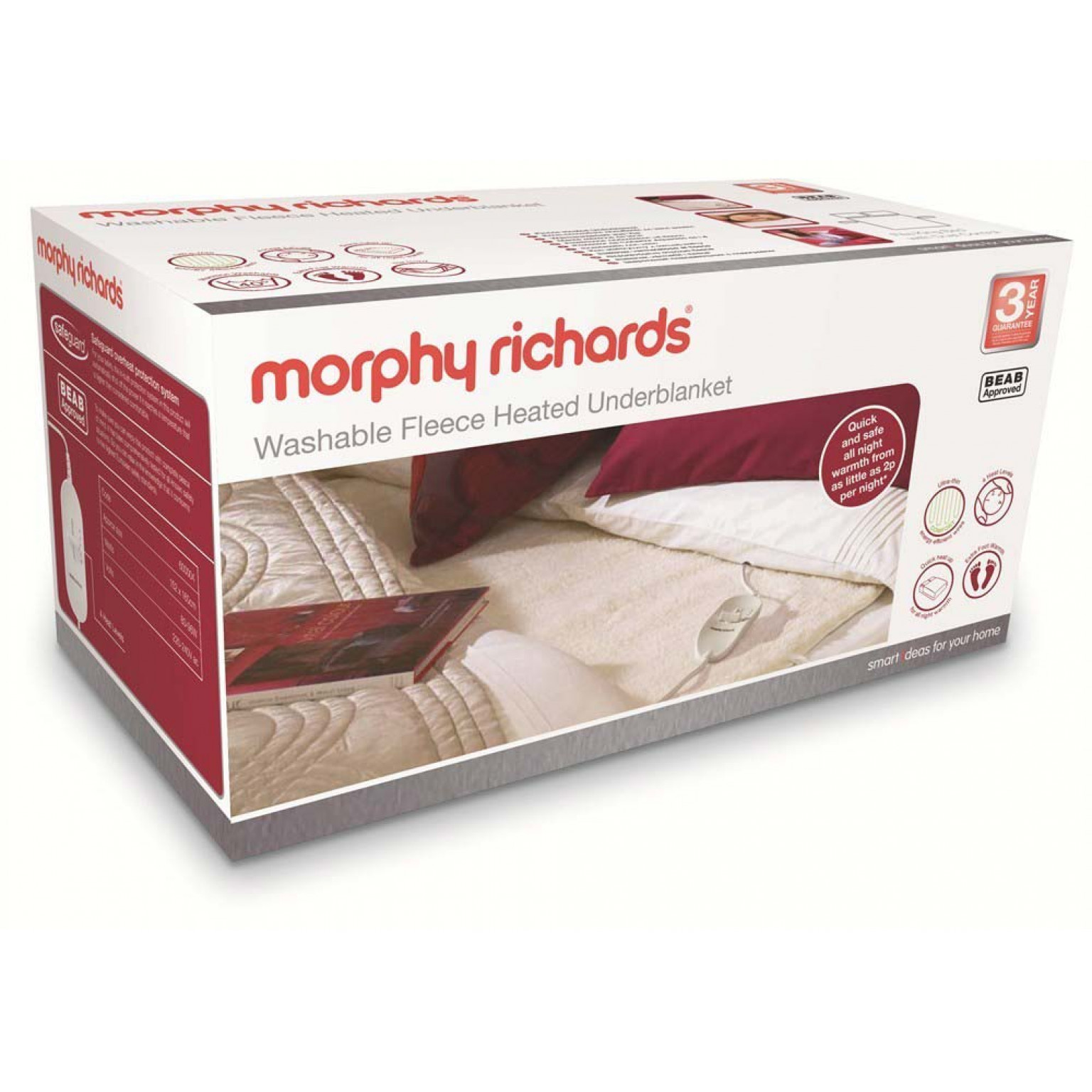 Morphy Richards Fleece Heated Mattress Cover | King Size
