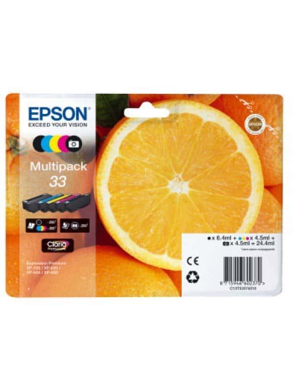 Epson Multipack 5-colours 33 Claria Premium Ink  C13T33374010