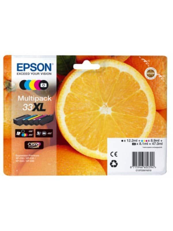 Epson Multipack 5-colours 33XL Claria Premium Ink C13T33574010