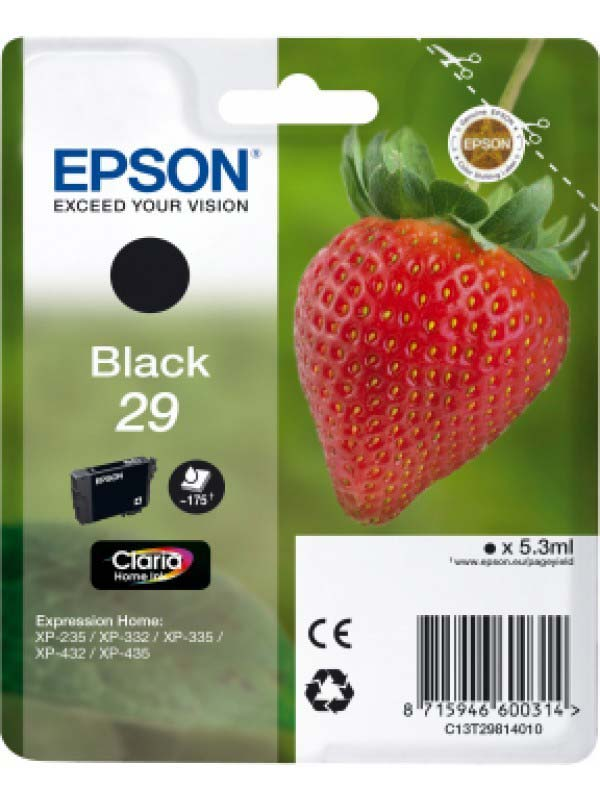 Epson C13T29814010 Singlepack Black 29 Claria Home Ink