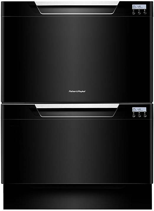FISHER & PAYKEL Double Dishwasher in Black DD60DCHB7