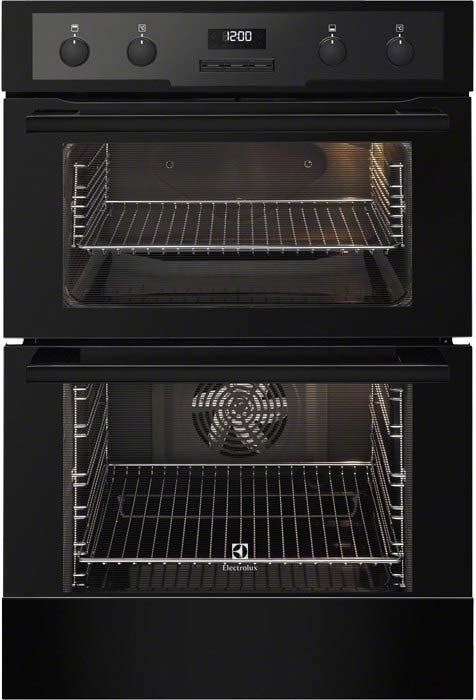 Electrolux Catalytic Integrated 60cm Double Oven, Black EOD5460AAK