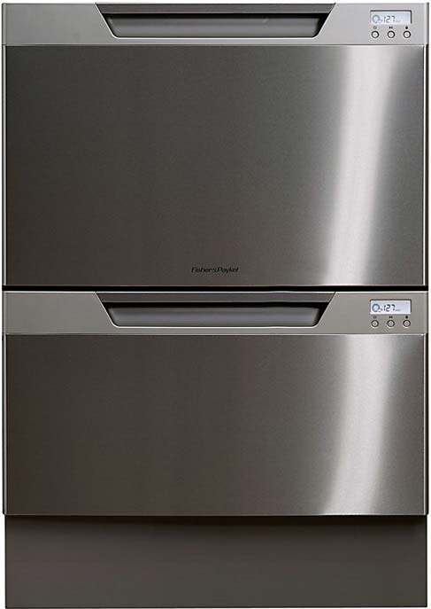 FISHER & PAYKEL Double Dishwasher in Black DD60DCHX7