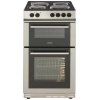Belling 50cm double oven cooker with solid plate hob FS50EFDOSIL