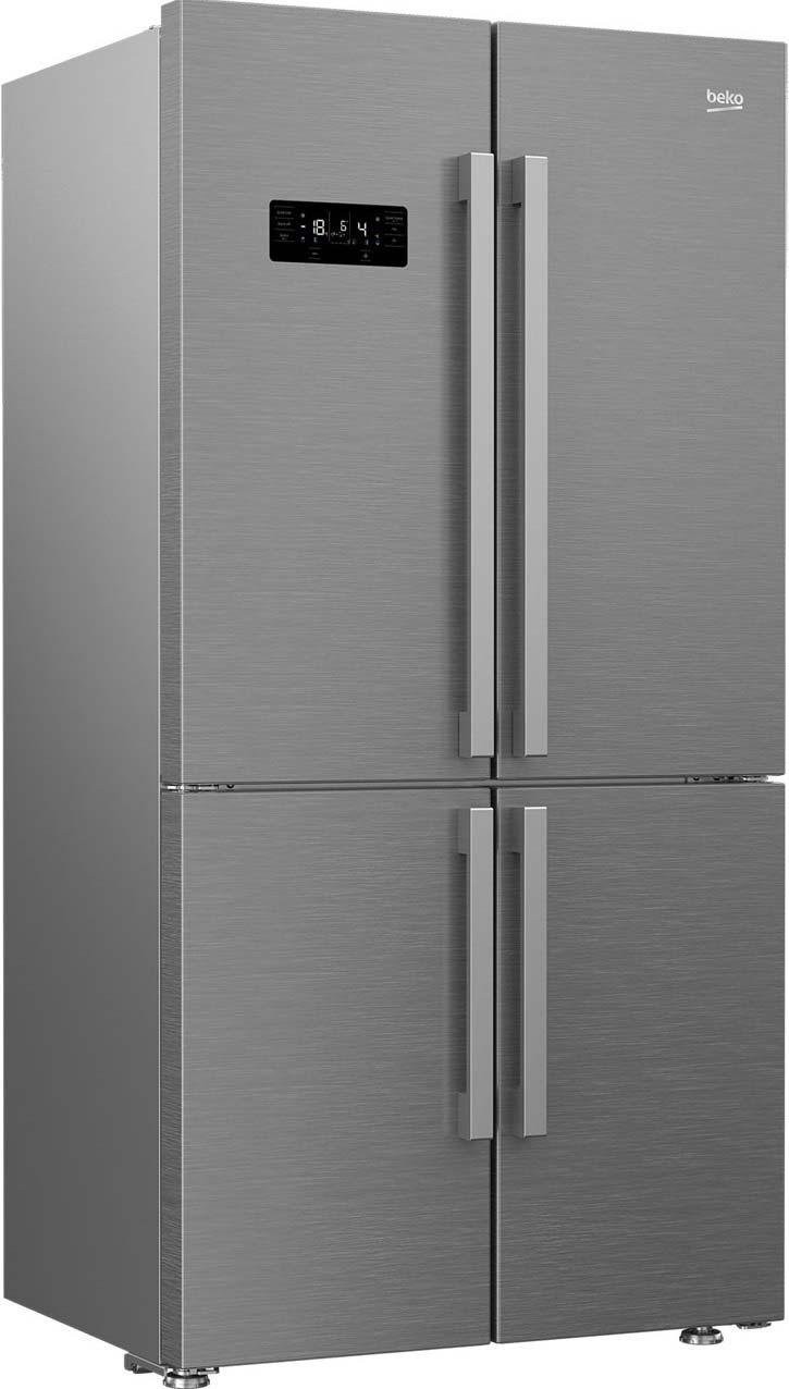 Beko Freestanding American Style Fridge Freezer Frost Free GN1416221ZX