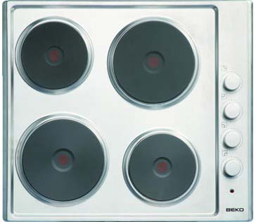 BEKO Sealed Plate Electric Hob in Stainless Steel HIZE64101X