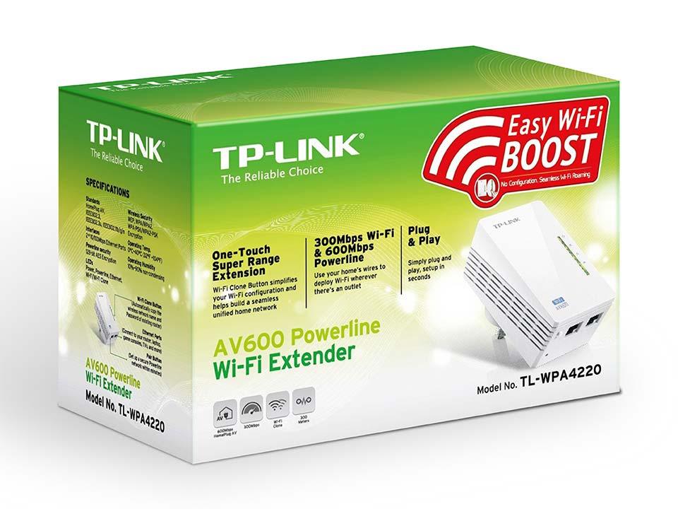 TP-Link 300Mbps AV600 Wi-Fi Powerline Extender   TL-WPA4220V1.2
