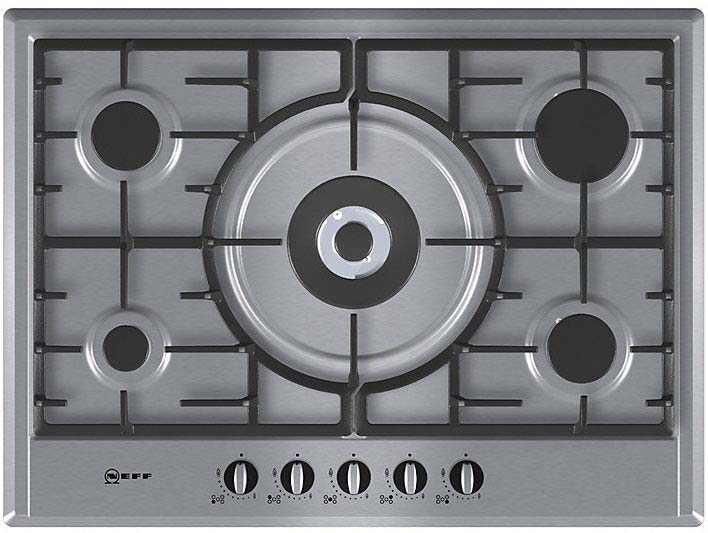 Neff T25S56N0GB 70cm 5 Ring Gas Hob in Stainless Steel