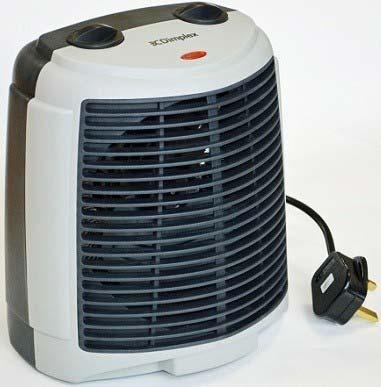 Winterwarm 2kW Upright Electric Fan Heater   WWUF2T