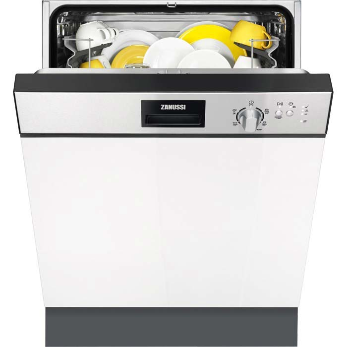 Zanussi 60cm Semi integrated dishwasher in stainless steel ZDI22001XA