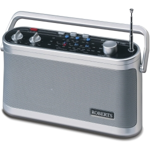 R9954_Roberts Classic 3 Band Portable Radio - Silver