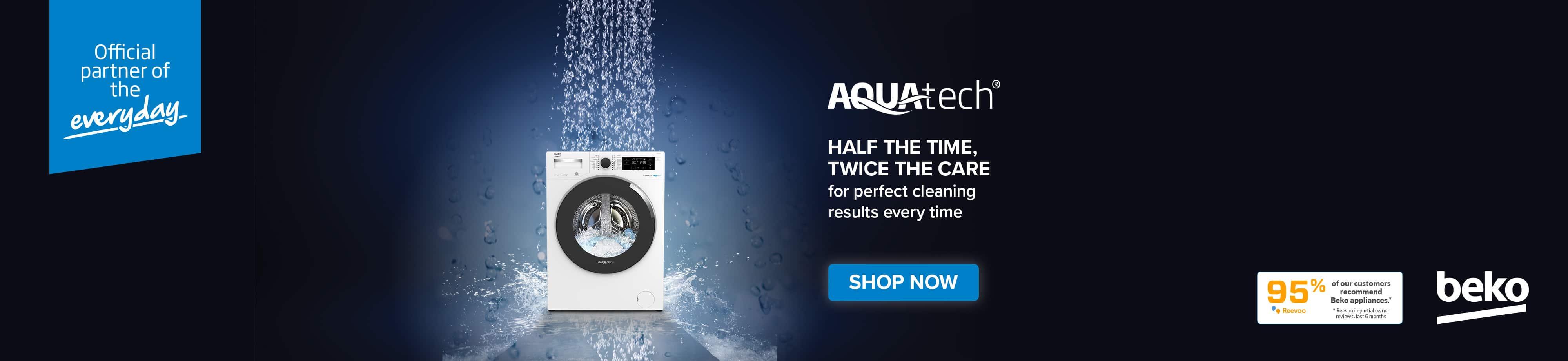 beko aquatech homepage desktop