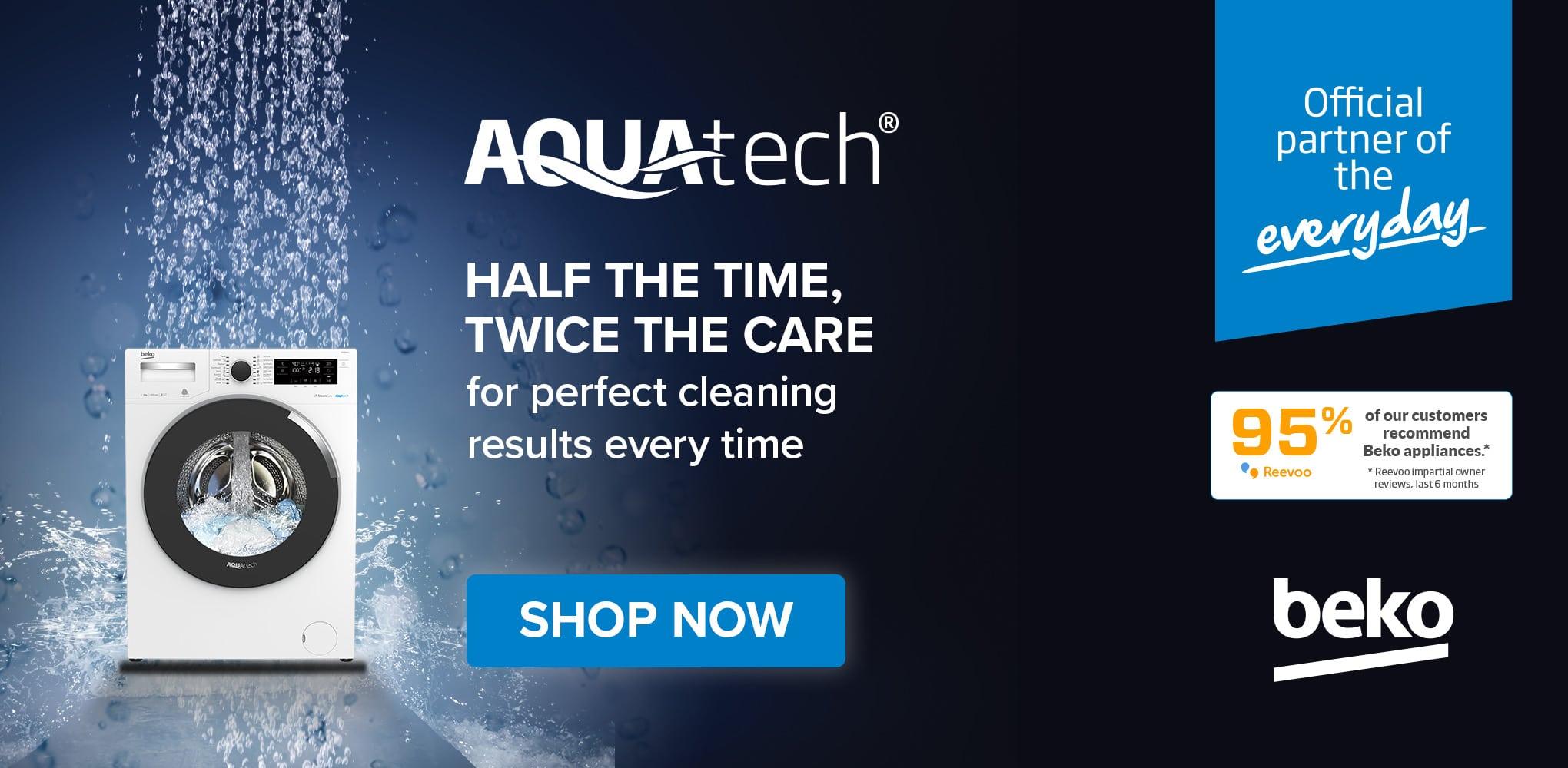 beko aquatech homepage mobile
