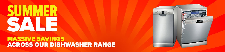category banner dishwasher summer sale