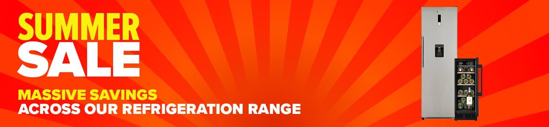 category banner refrigeration summer sale