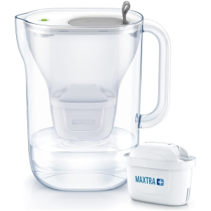 brita style cool grey 2.4 litre water filter jug with refill led & 3 maxtra+ filters (3)