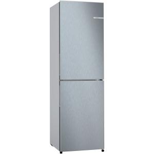 bosch serie 2 frost free 55cm freestanding fridge freezer stainless steel (1)