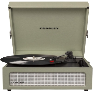 crosley voyager vintage portable turntable with bluetooth and built in speakers sage (1)