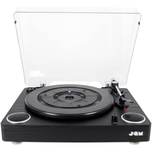 jam 3 speed turntable with built in speakers black (1)